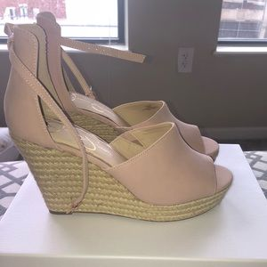 Jessica Simpson Pale Pink Wedges—NEVER been worn!